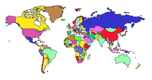 Nations / Continets World Map   Total Annihilation Universe